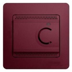 Термостат для теплого пола Schneider Electric GLOSSA, с датчиком, баклажановый, GSL001138