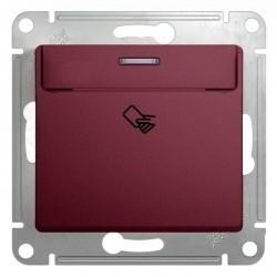 Карточный выключатель Schneider Electric GLOSSA, баклажановый, GSL001169