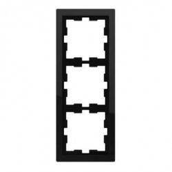 Рамка 3 поста Schneider Electric GLOSSA, вертикальная, платина, GSL001207