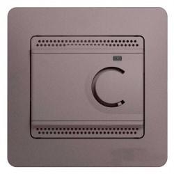 Термостат для теплого пола Schneider Electric GLOSSA, с датчиком, платина, GSL001238