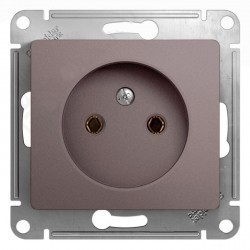 Розетка Schneider Electric GLOSSA, скрытый монтаж, платина, GSL001241