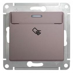 Карточный выключатель Schneider Electric GLOSSA, платина, GSL001269
