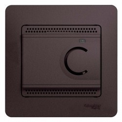 Термостат для теплого пола Schneider Electric GLOSSA, с датчиком, графит, GSL001338