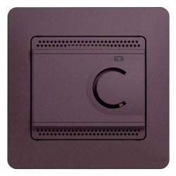 Термостат для теплого пола Schneider Electric GLOSSA, с датчиком, сиреневый туман, GSL001438