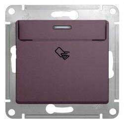 Карточный выключатель Schneider Electric GLOSSA, сиреневый туман, GSL001469
