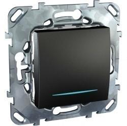 Выключатель 1-клавишный Schneider Electric UNICA TOP, с подсветкой, скрытый монтаж, графит, MGU5.201.12NZD