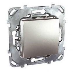 Выключатель 1-клавишный Schneider Electric UNICA TOP, скрытый монтаж, алюминий, MGU5.201.30ZD