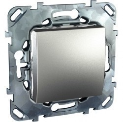Переключатель 1-клавишный Schneider Electric UNICA TOP, скрытый монтаж, алюминий, MGU5.203.30ZD