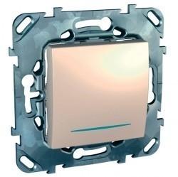 Переключатель 1-клавишный перекрестный Schneider Electric UNICA, с подсветкой, скрытый монтаж, бежевый, MGU5.205.25NZD