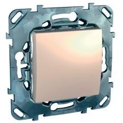 Переключатель 1-клавишный перекрестный Schneider Electric UNICA, скрытый монтаж, бежевый, MGU5.205.25ZD