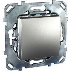 Переключатель 1-клавишный перекрестный Schneider Electric UNICA TOP, скрытый монтаж, алюминий, MGU5.205.30ZD