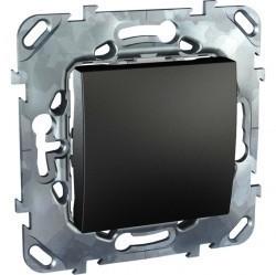 Выключатель одноклавишный кнопочный Schneider Electric UNICA TOP, скрытый монтаж, графит, MGU5.206.12ZD