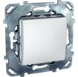 Выключатель 1-клавишный кнопочный Schneider Electric UNICA, скрытый монтаж, белый, MGU5.206.18ZD
