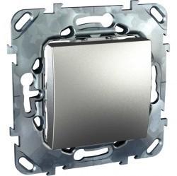 Выключатель 1-клавишный кнопочный Schneider Electric UNICA TOP, скрытый монтаж, алюминий, MGU5.206.30ZD