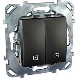 Выключатель для жалюзи кнопочный Schneider Electric UNICA TOP, графит, MGU5.207.12ZD