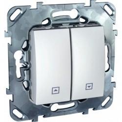 Выключатель для жалюзи Schneider Electric UNICA, белый, MGU5.207.18ZD