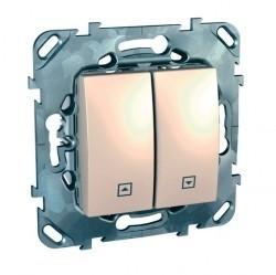 Выключатель для жалюзи Schneider Electric UNICA, бежевый, MGU5.207.25ZD