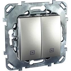 Выключатель для жалюзи кнопочный Schneider Electric UNICA TOP, алюминий, MGU5.207.30ZD