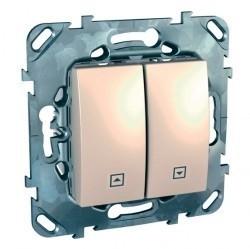 Выключатель для жалюзи Schneider Electric UNICA, бежевый, MGU5.208.25ZD