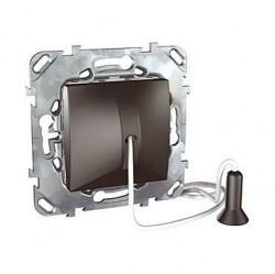 Выключатель 1-клавишный Schneider Electric UNICA TOP, скрытый монтаж, графит, MGU5.226.12ZD
