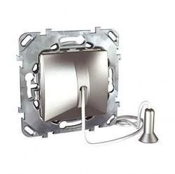 Выключатель 1-клавишный Schneider Electric UNICA TOP, скрытый монтаж, алюминий, MGU5.226.30ZD