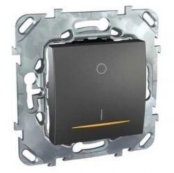 Выключатель 1-клавишный двухполюсный Schneider Electric UNICA TOP, скрытый монтаж, графит, MGU5.262.12SZD