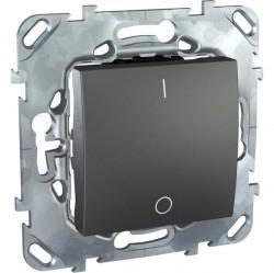 Выключатель 1-клавишный двухполюсный Schneider Electric UNICA TOP, скрытый монтаж, графит, MGU5.262.12ZD