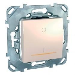 Выключатель 1-клавишный Schneider Electric UNICA, с подсветкой, скрытый монтаж, бежевый, MGU5.262.25SZD