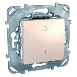Выключатель 1-клавишный Schneider Electric UNICA, скрытый монтаж, бежевый, MGU5.262.25ZD
