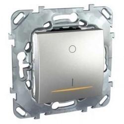 Выключатель 1-клавишный двухполюсный Schneider Electric UNICA TOP, скрытый монтаж, алюминий, MGU5.262.30SZD