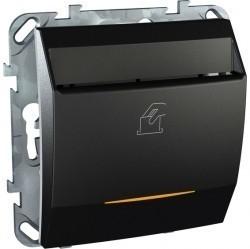 Карточный выключатель Schneider Electric UNICA TOP, механический, графит, MGU5.283.12ZD
