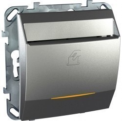 Карточный выключатель Schneider Electric UNICA TOP, механический, алюминий, MGU5.283.30ZD