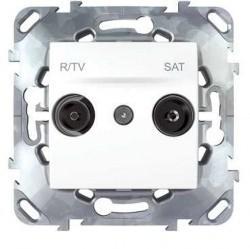 Розетка TV-FM-SAT Schneider Electric UNICA, одиночная, белый, MGU5.454.18ZD