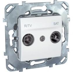Розетка TV-FM-SAT Schneider Electric UNICA, оконечная, белый, MGU5.455.18ZD
