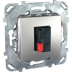 Аудио-розетка Schneider Electric UNICA TOP, алюминий, MGU5.486.30ZD