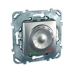 Термостат для теплого пола Schneider Electric UNICA TOP, с датчиком, алюминий, MGU5.503.30ZD