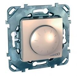 Светорегулятор поворотный Schneider Electric UNICA, 600 Вт, бежевый, MGU5.512.25ZD