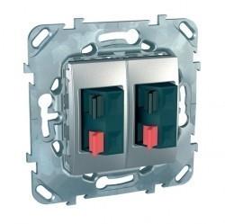 Аудио-розетка Schneider Electric UNICA TOP, алюминий, MGU5.8787.30ZD