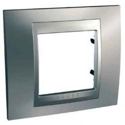 Рамка 1 пост Schneider Electric UNICA TOP, хром матовый, MGU66.002.038