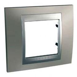 Рамка 1 пост Schneider Electric UNICA TOP, никель, MGU66.002.039