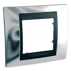 Рамка 1 пост Schneider Electric UNICA TOP, хром глянцевый, MGU66.002.210