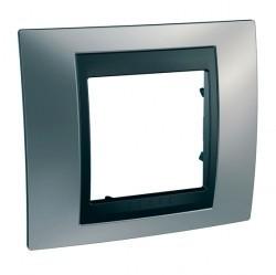 Рамка 1 пост Schneider Electric UNICA TOP, хром матовый, MGU66.002.238