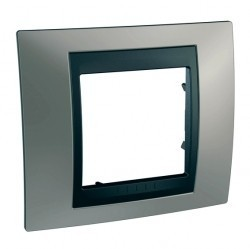 Рамка 1 пост Schneider Electric UNICA TOP, никель, MGU66.002.239