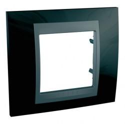 Рамка 1 пост Schneider Electric UNICA TOP, черный, MGU66.002.293