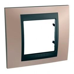 Рамка 1 пост Schneider Electric UNICA TOP, оникс, MGU66.002.296