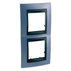 Рамка 2 поста Schneider Electric UNICA TOP, вертикальная, берилл, MGU66.004V.298