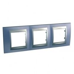 Рамка 3 поста Schneider Electric UNICA TOP, горизонтальная, берилл, MGU66.006.098