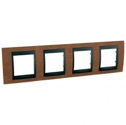 Рамка 4 поста Schneider Electric UNICA TOP, горизонтальная, вишня, MGU66.008.2M2