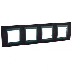 Рамка 4 поста Schneider Electric UNICA TOP, горизонтальная, венге, MGU66.008.2M3