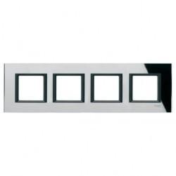 Рамка 4 поста Schneider Electric UNICA CLASS, черное стекло, MGU68.008.7C1